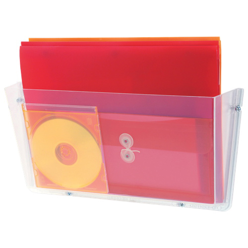 Deflect-o Unbreakable Wall Pocket (DEF64301) - Clear