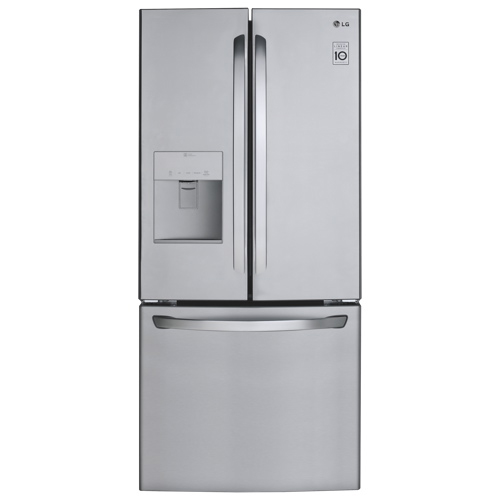 Lg 30 22 cu ft french door refrigerator lfd22786st for Stainless steel countertops cost per sq ft