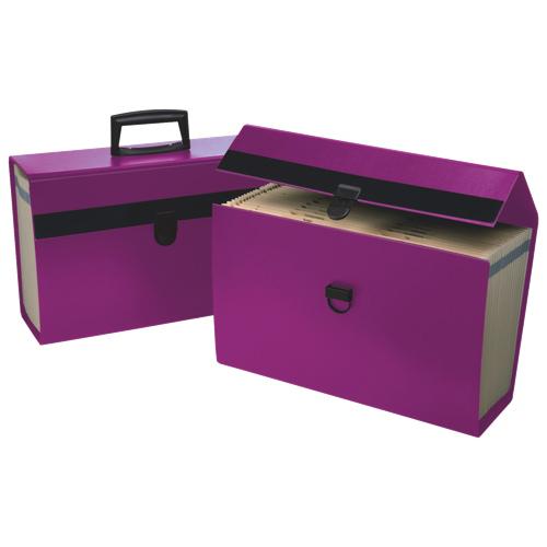 Esselte Expandable Home A-Z Portafile (ESS01157) - Purple