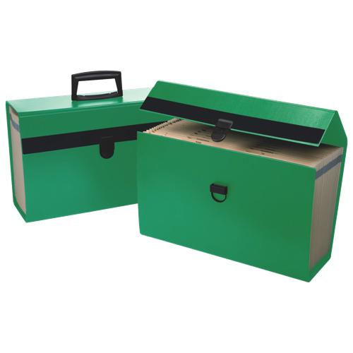 Boîte à documents portable A-Z d'Esselte pour la maison (ESS01159) - Vert