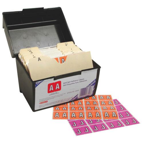 Esselte Colour-Coded A-Z Alphabetical Shelf Folder Labels (ESS06600) - 3840 Pack