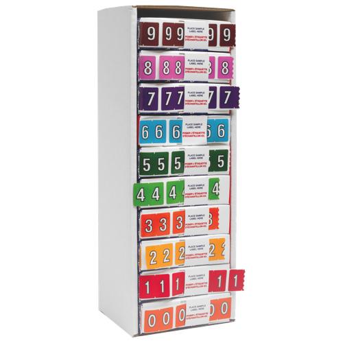 Esselte Numeric Shelf Folder Labels (ESS06640) - 5500 Pack