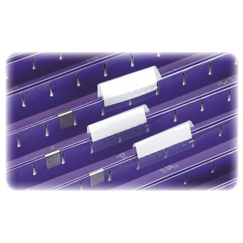 Étiquettes pour porte-étiquettes de dossiers Pendaflex d'Esselte (ESS242) - Paquet de 100 - Blanc
