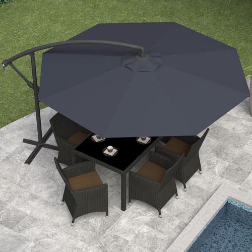 Offset Patio Umbrella   Black