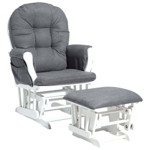 Attirant Stork Craft Custom Hoop Glider With Ottoman   White/Grey : Glider Chairs U0026  Rockers   Best Buy Canada