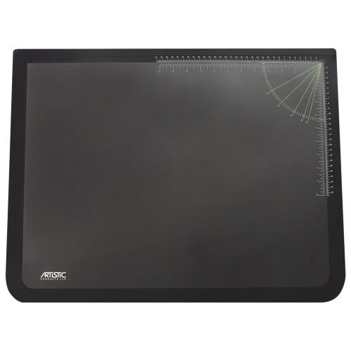 Sous-main en caoutchouc de 24 po x 19 po d'Artistic Products (AOP41100) - Noir