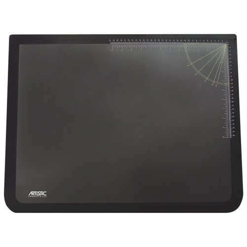 "Artistic Products 24"" x 19"" Rubber Desktop Organizer Pad (AOP41100) - Black"