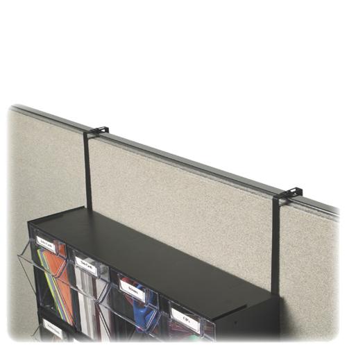 Deflect-o Metal Partition Brackets (DEF391204) - 2 Pack - Black