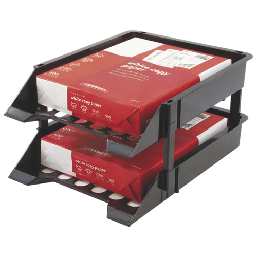 Deflect-o Heavy-Duty Countertop Tray with Risers (DEF63304) - 2 Pack - Black