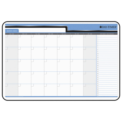 Day-Timer 30-Day Undated Wall Planner/Calendar (DTM59730) - Black