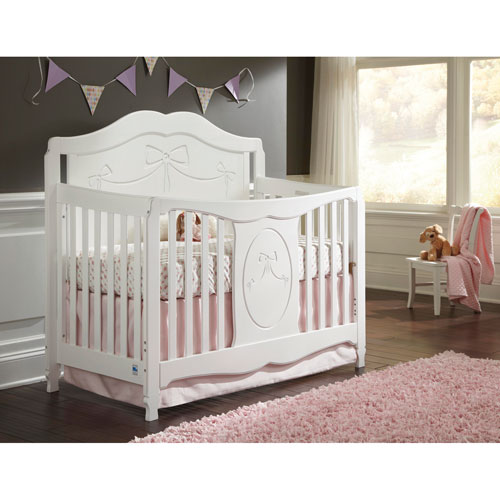 stork craft princess 4in1 fixed side convertible crib white baby cribs best buy canada - White Baby Crib