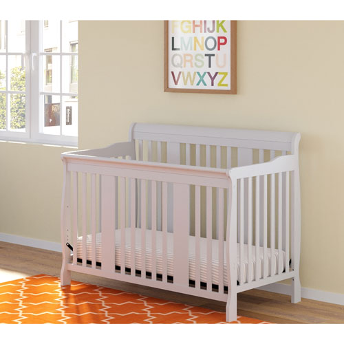 stork craft tuscany 4in1 convertible crib white baby cribs best buy canada - White Baby Crib
