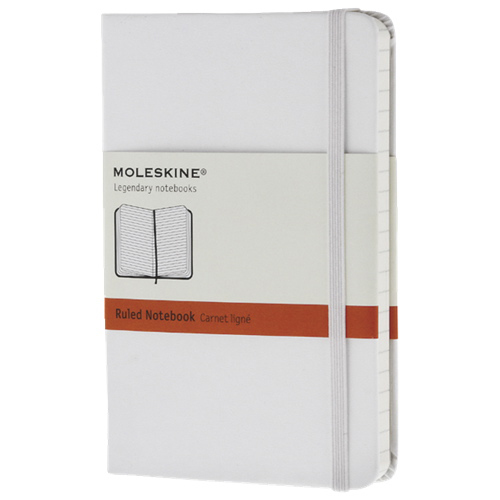 "Moleskine 3.5"" x 5.5"" Ruled Pocket Notebook - White"