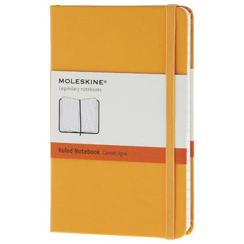 """Moleskine 3.5"""" x 5.5"""" Ruled Pocket Notebook - Orange"""