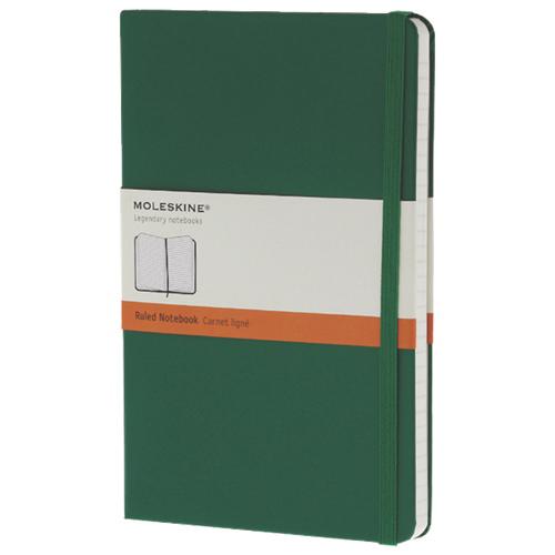 "Moleskine 5""x8.25"" Large Ruled Notebook - Green"
