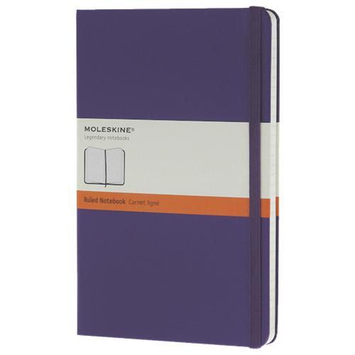 """Moleskine 5""""x8.25"""" Large Ruled Notebook - Violet"""