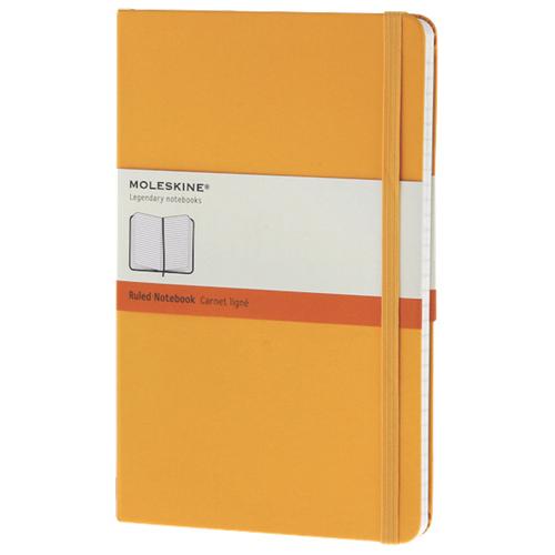 Grand cahier à papier ligné 5 x 8,25 po de Moleskine - Orange