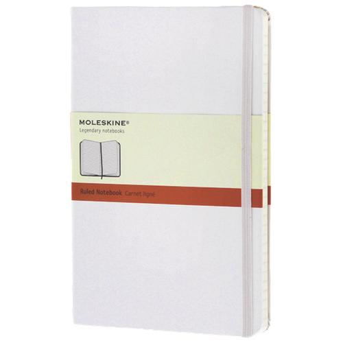 Grand cahier à papier ligné 5 x 8,25 po de Moleskine - Blanc