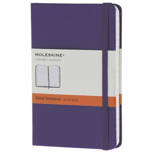 Carnet ligné avec pochette de 3,5 x 5,25 po de Moleskine - Violet