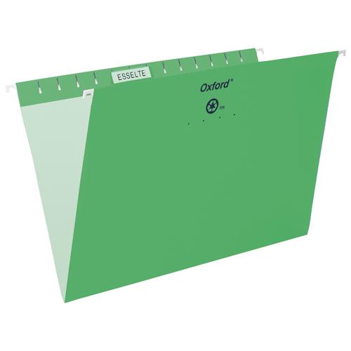 Esselte Oxford Hanging File Folder (ESS91834) - Legal - Bright Green
