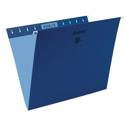 Esselte Oxford Hanging File Folder (ESS91807) - Letter - 25 Pack - Navy