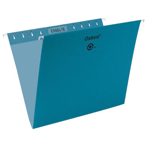 Esselte Oxford Hanging File Folder (ESS91811) - Letter - 25 Pack - Teal