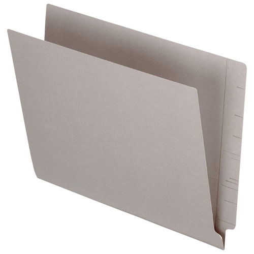 Esselte Pendaflex End Tab File Folder (ESSH110DGY) - Letter - 100 Pack - Grey
