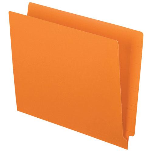 Esselte End Tab File Folder (ESSH110DOR) - Letter - 100 Pack - Orange