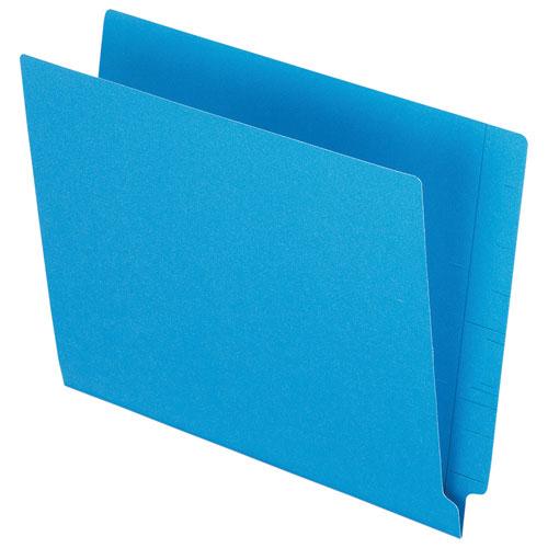 Esselte End Tab File Folder (ESSH110DBL) - Letter - 100 Pack - Blue