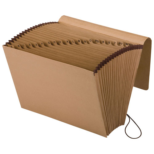 Classeur accordéon Essentials Kraft Pendaflex d'Esselte (ESSK17D-OX) - Ministre - Brun