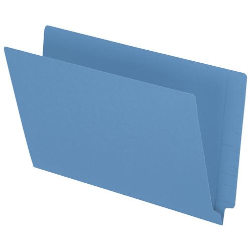 Esselte End Tab File Folder (ESSH210DBL) - Legal - 50 Pack - Blue