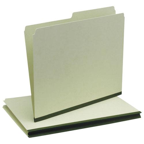 Chemise à onglet 1/2 en carton comprimé d'Esselte (ESSP421-RT) - Lettre - 50 - Vert