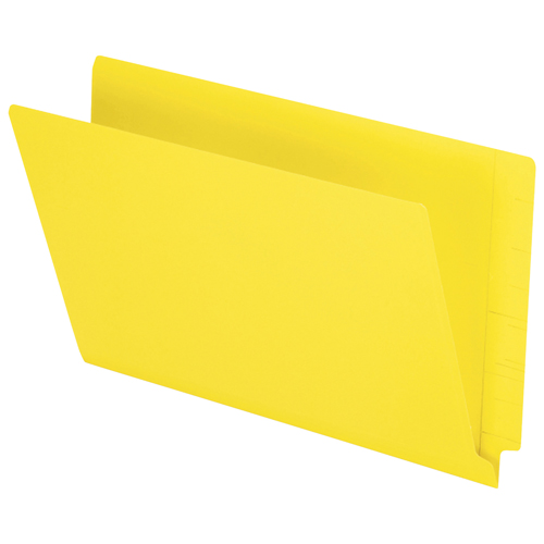 Esselte End Tab File Folder (ESSH210DY) - Legal - 50 Pack - Yellow