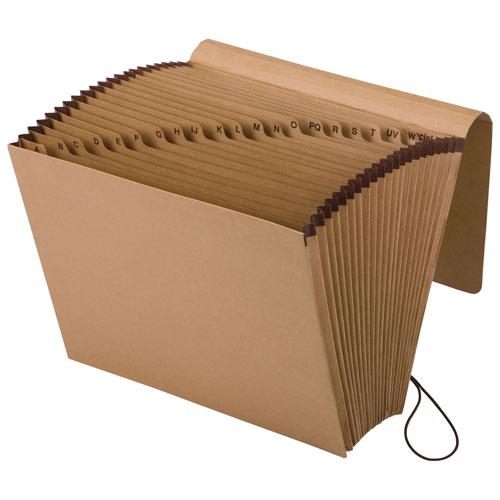 Classeur accordéon A-Z Essentials d'Esselte (ESSK17A-OX) - Lettre - Brun