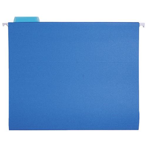 Sparco Coloured Hanging Folders (SPRSP5215BLU) - Letter - 25 Pack - Blue