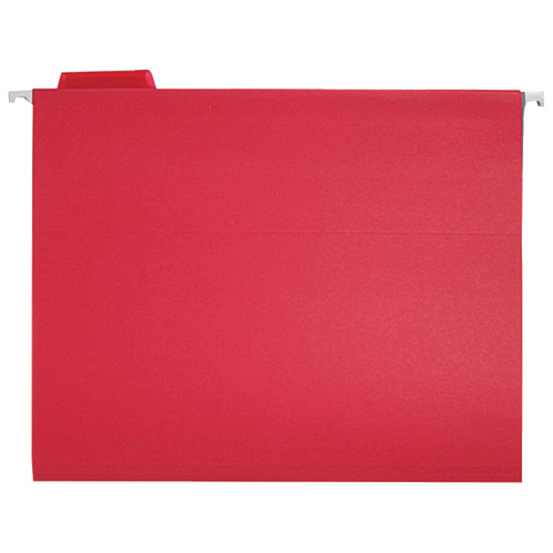 Chemises suspendues colorées de Sparco (SPRSP5215RED) - Lettre - Paquet de 25 - Rouge