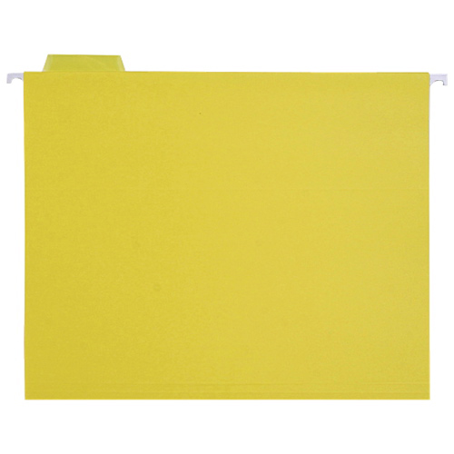 Sparco Coloured Hanging Folders (SPRSP5215YEL) - Letter - 25 Pack - Yellow