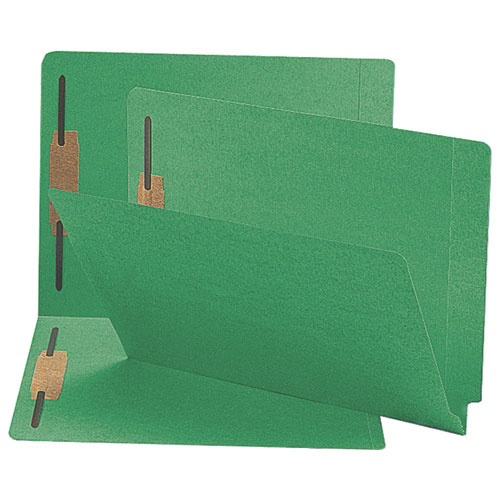 Sparco Fastener Folder with Two-Ply Tabs (SPRSP17244) - Letter - 50 Pack - Green