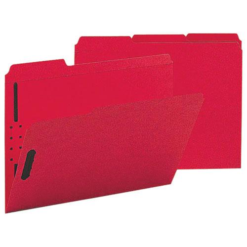 Sparco Coloured End-Tab Fastener Folder (SPRSP17269) - Letter - 50 Pack - Red