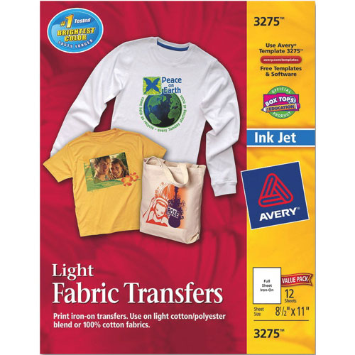 Avery Iron-On T-Shirt Transfers (AVE03275) - 12 Pack : Specialty ...