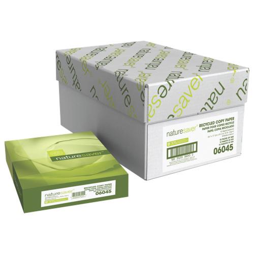 "Nature Saver Recycled 5000-Sheet 8.5"" x 11"" White Multi-Purpose Paper (NAT06045)"
