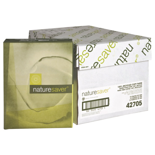 5000 feuilles de papier blanc recyclé tout usage 8,5 x 11 po de Nature Saver (NAT42705)