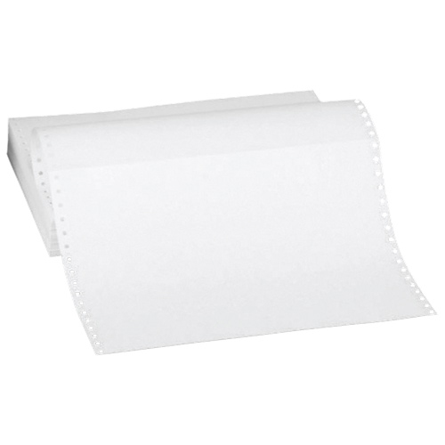 """Sparco 2400-Sheet 8.5"""" x 11"""" Green-Bar Continuous Computer Paper (SPR62445)"""