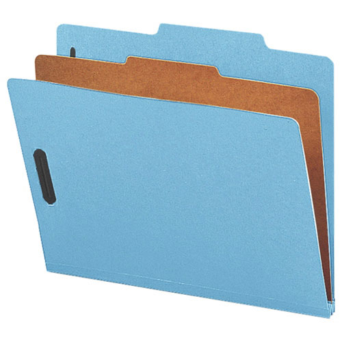 "Nature Saver 8.5"" x 11"" Eco-Friendly Classification Folders - 10 Pack - Blue (NATSP17200)"
