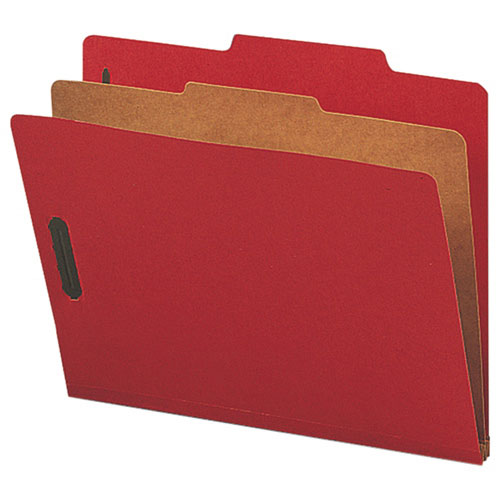 "Nature Saver 8.5"" x 11"" Eco-Friendly Classification Folders - 10 Pack - Bright Red"
