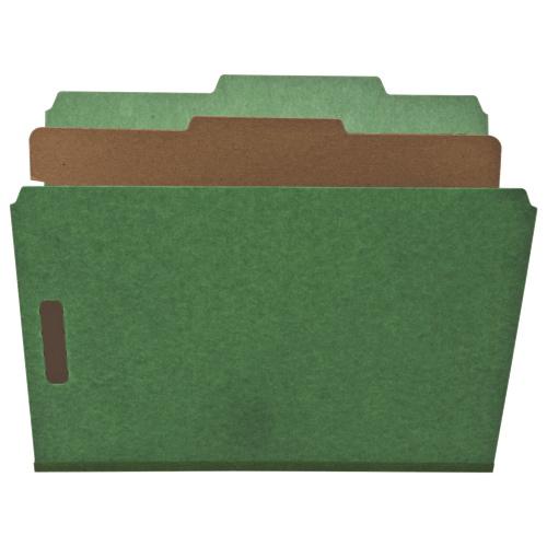 Chemises de classement écologiques 8,5 x 11 po de Nature Saver - Paquet de 10 - Vert