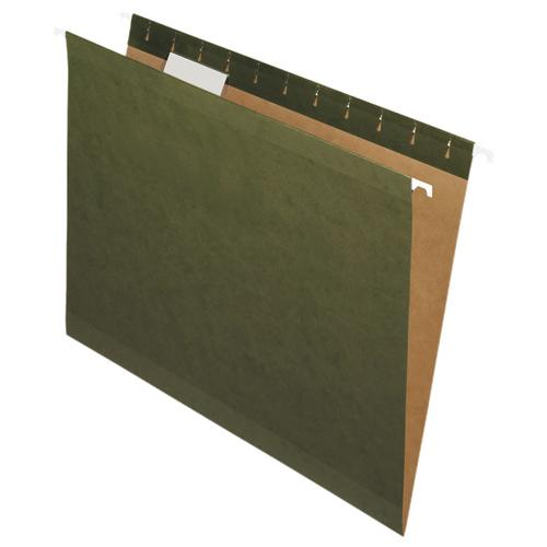 Dossiers suspendus de Nature Saver - 8,5 x 11 po - Paquet de 25 - Vert (NAT08650)