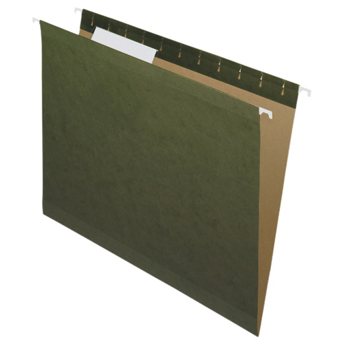 "Nature Saver 8.5"" x 11"" Hanging File Folders - 25 Pack - Green (NAT08651)"
