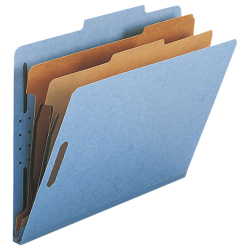 "Nature Saver 8.5"" x 11"" Eco-Friendly Classification Folders - 10 Pack - Blue (NATSP17205)"