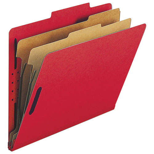 """Nature Saver 8.5"""" x 11"""" Eco-Friendly Classification Folders - 10 Pack - Red"""